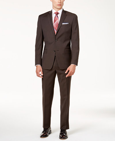 Michael Kors Men's Classic-Fit Brown Suit - Suits & Suit Separates ...