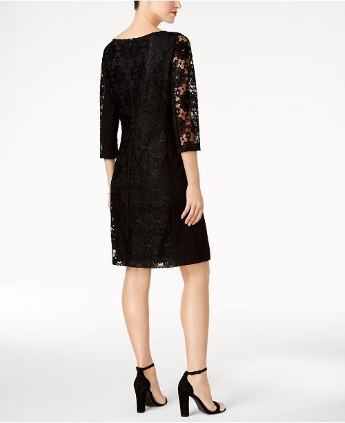 Nine West Lace Sheath Dress - Dresses - Women - Macy s bbc2954b2