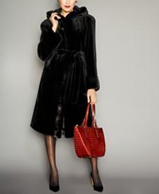 The Fur Vault Reversible Belted Mink Fur Coat