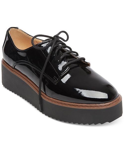 edcb6c94b922 Madden Girl Written Platform Oxfords   Reviews - Sneakers - Shoes ...