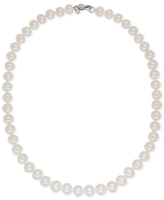 Cultured Freshwater Pearl (8mm) Collar Necklace by Honora Style
