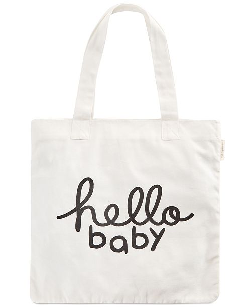 8caa8248390be First Impressions Hello Baby Cotton Tote Bag, Created for Macy's ...