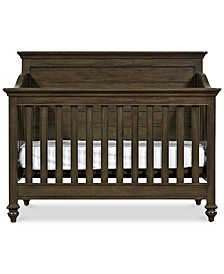 Varsity Baby 4-In-1 Convertible Crib (Convertible Crib, Bed Rails, Slat Roll & Footboard)