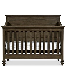 Varsity Baby 4-In-1 Convertible Crib (Convertible Crib, Bed Rails, Slat Roll & Footboard)
