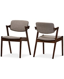 Elegant Mid-Century Dining Armchair (Set Of 2)