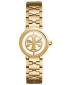 Tory Burch Women's Reva Gold-Tone Stainless Steel Bracelet Watch 28mm