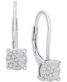 Diamond Cluster Drop Earrings (1/4 ct. t.w.)