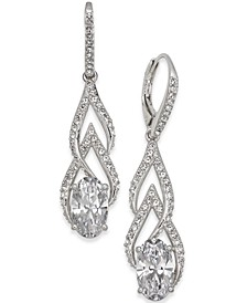 Silver-Tone Crystal & Pavé Drop Earrings, Created for Macy's