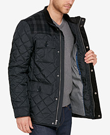 Cole Haan Mixed Media Quilted Jacket