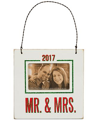 Primitives By Kathy 2017 Mr Mrs Mini Hanging Frame Ornament