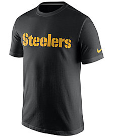 Nike Men's Pittsburgh Steelers Cotton Essential Wordmark T-Shirt