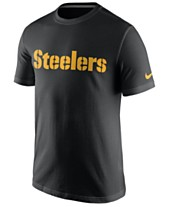 Nike Men s Pittsburgh Steelers Cotton Essential Wordmark T-Shirt 4bb821edb