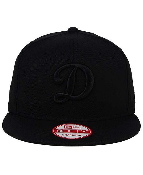 71a76686357fdf ... New Era Los Angeles Dodgers Triple Black 9FIFTY Snapback Cap ...