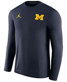 Nike Men's Michigan Wolverines Dri-Fit Touch Longsleeve T-Shirt