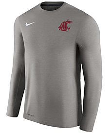 Nike Men's Washington State Cougars Dri-Fit Touch Longsleeve T-Shirt