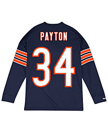 Mitchell & Ness Men's Walter Payton Chicago Bears Retro Player Name & Numer Longsleeve T-Shirt