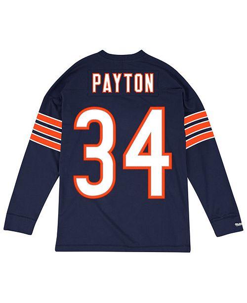 f4b1ada66 ... Mitchell & Ness Men's Walter Payton Chicago Bears Retro Player Name &  Numer Longsleeve ...