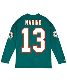 Mitchell & Ness Men's Dan Marino Miami Dolphins Retro Player Name & Numer Longsleeve T-Shirt