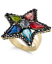 Anna Sui x INC International Concepts Gold-Tone Multi-Stone Flower Ring, Created for Macy's