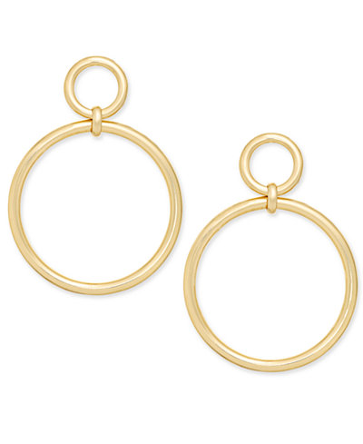 I.N.C. Gold-Tone Drop Hoop Earrings, Created for Macy's