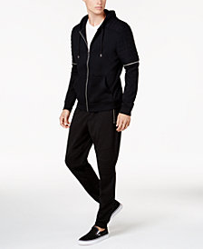 I.N.C. Hoodie & Moto Knit Jogger Pants, Created for Macy's