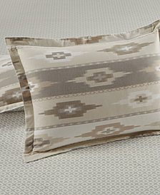 CLOSEOUT! Martha Stewart Collection Stonemeadow  100% Cotton Ikat Flannel Sham, Created for Macy's