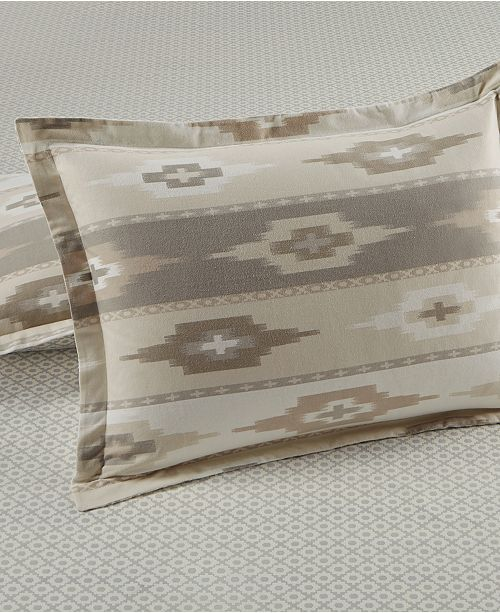 CLOSEOUT! Stonemeadow  100% Cotton Ikat Flannel Sham, Created for Macy's