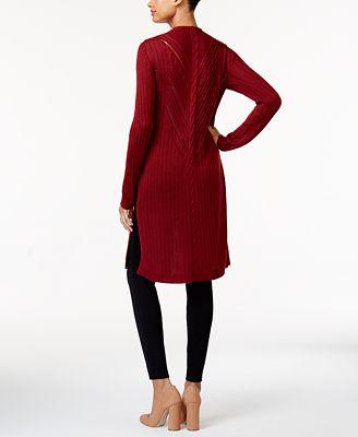 Love Scarlett Cable-Knit Duster Cardigan - Sweaters - Women - Macy's