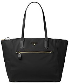 MICHAEL Michael Kors Kelsey Large Top-Zip Nylon Tote