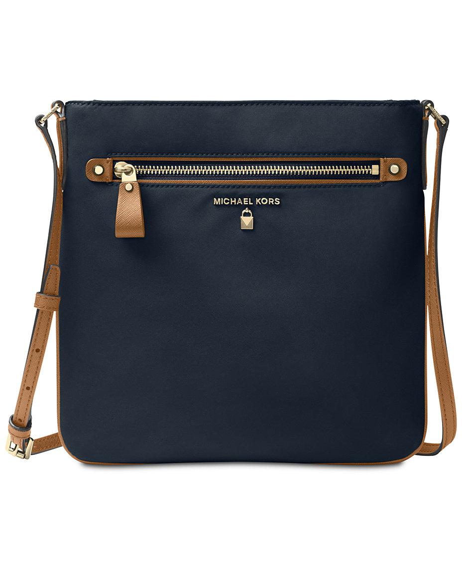 d4e0be7a5a8c Michael Kors Kelsey Nylon Crossbody   Reviews - Handbags   Accessories -  Macy s
