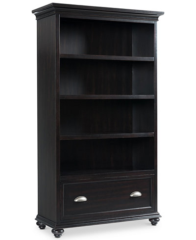 Clinton Hill Ebony Home Office Open Bookcase, Created for Macy's