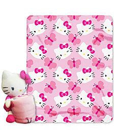 Sanrio Hello Kitty 3D Hugger Pillow & Throw Set