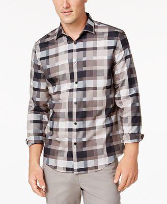Alfani Men's Geometric Shirt, Created for Macy's
