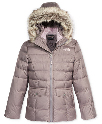 The North Face Gotham Hooded Down Jacket with Faux-Fur Trim ...
