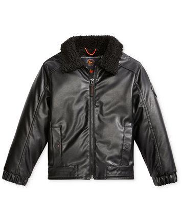 Hawke & Co. Faux-Leather Bomber Jacket, Little Boys (4-7) - Coats ...