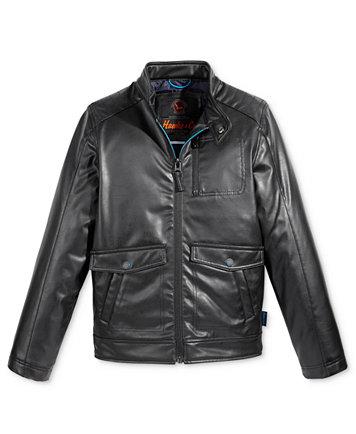 Hawke & Co. Faux-Leather Biker Jacket, Big Boys (8-20) - Coats ...