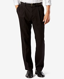 Men's Big & Tall Easy Classic Fit  Khaki Stretch Pants