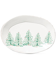 VIETRI Lastra Holiday Large Oval Platter