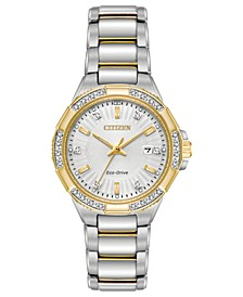 Eco-Drive Women's Riva Two-Tone Stainless Steel Bracelet Watch 30mm
