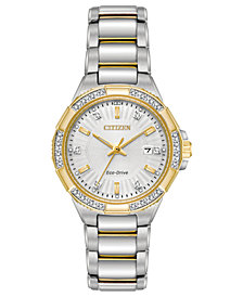 Citizen Eco-Drive Women's Riva Two-Tone Stainless Steel Bracelet Watch 30mm