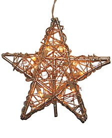 Rattan Gold Star Tree Topper