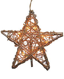 Kurt Adler Rattan Gold Star Tree Topper