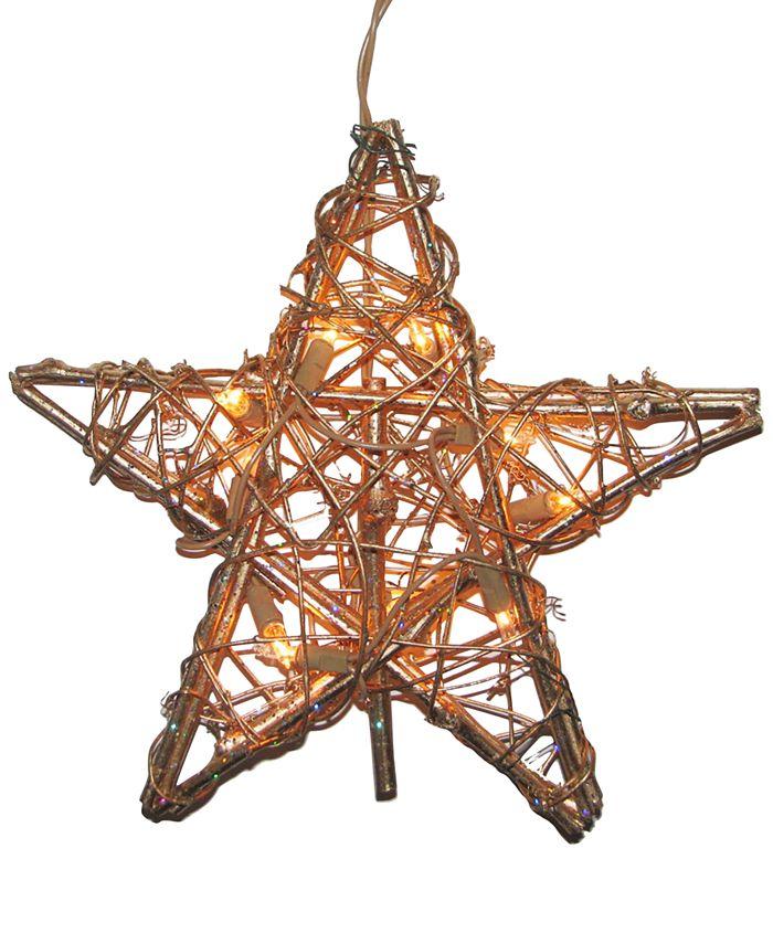 Kurt Adler - Rattan Gold Star Tree Topper