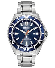 Citizen Eco Drive Mens Promaster Diver Stainless Steel Bracelet Watch 44mm