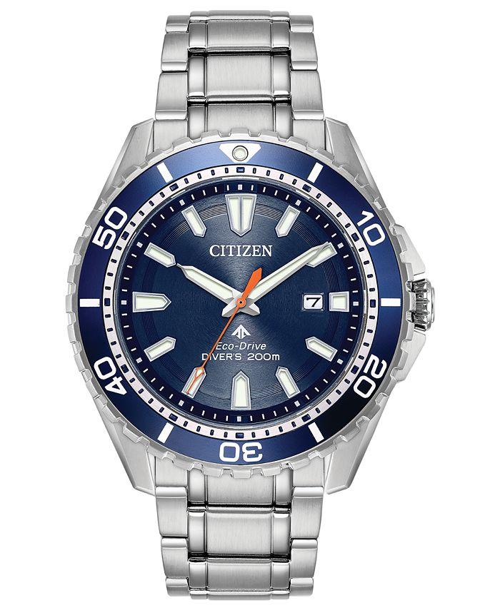 Citizen - Men's Eco-Drive Promaster Diver Stainless Steel Bracelet Watch 44mm