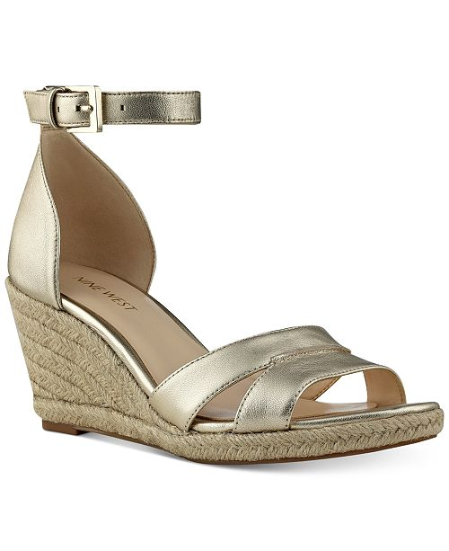 8b628c83525 Nine West Jabrina Wedge Sandals   Reviews - Sandals   Flip Flops ...