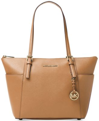 michael kors jet set large crossgrain leather tote handbags rh macys com