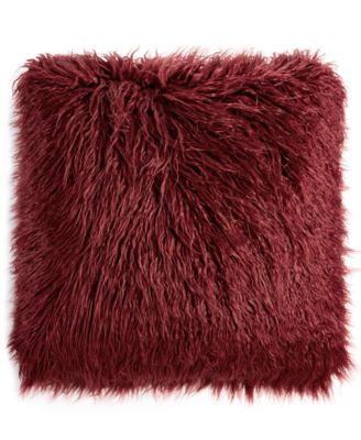 Martha Stewart Collection Faux Mongolian Fur Decorative Pillow, Created For  Macyu0027s