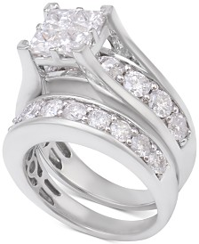 Diamond Channel-Set Bridal Set (4 ct. t.w.) in 14k White Gold