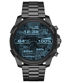 Diesel ON Men's Full Guard Gunmetal Stainless Steel Bracelet Smart Watch 48mm